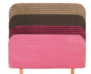 Posh Headboard in 7 Various Colours with Corded Fabric